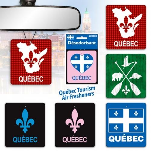 (x48) CAR AIR FRESHENER QUEBEC TOURISM