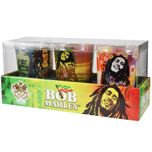 BOB MARLEY CANDLES + SHOT GLASS (PACK OF 3)