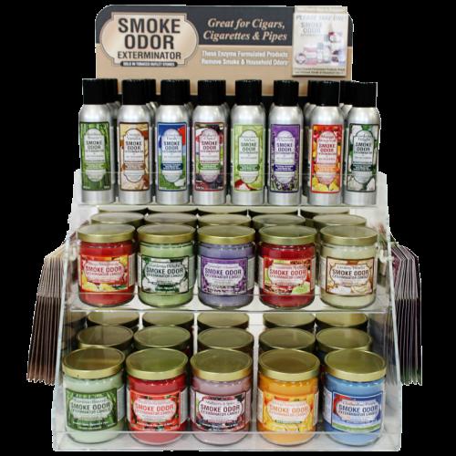 SMOKE ODOR SPRAYS AND CANDLES DISPLAY