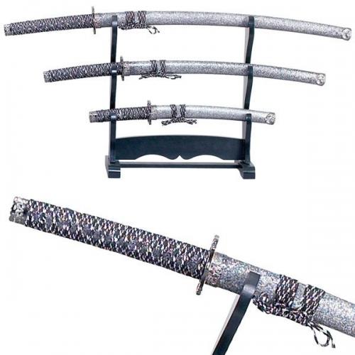 "SAMURAI SWORD SET (L) 39.8"" (M) 30.6"" (S) 21"" OVERALL"