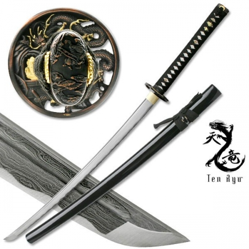 "HAND FORGED SAMURAI SWORD 40"" OVERALL"