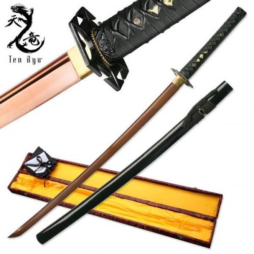 "Ten Ryu HAND FORGED SAMURAI SWORD 41"" OVERALL"