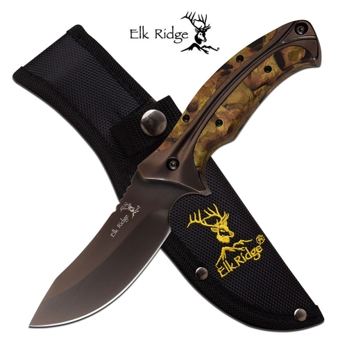 "ELK RIDGE FIXED BLADE KNIFE 8.75"" OVERALL"