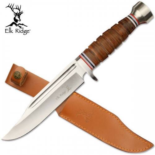 "Elk RidgeCOUTEAU À LAME FIXE 12 ""GLOBAL"