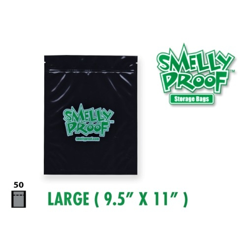 SMELLYPROOF BAGGIES XL 16*12'' BLACK