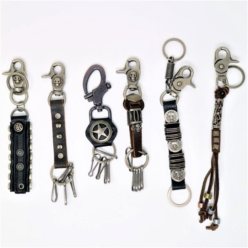 (12x) Leather Keychain mixed