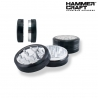 HAMMERCRAFT ANODIZED CLEAR TOP ALLUMINUM GRINDER (2PC)