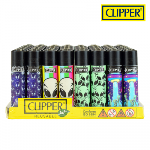 (48x) Clipper Lighters PSYCHEDELIC 8