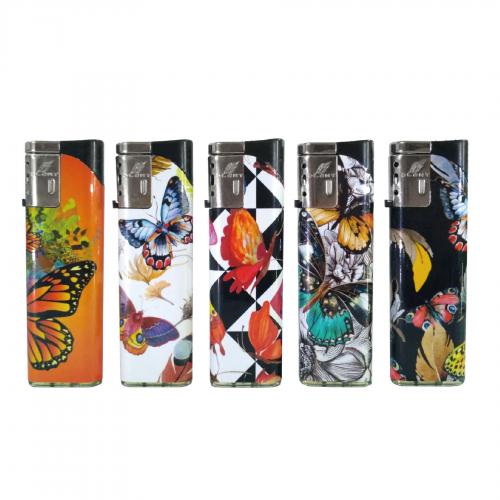 (x50) Duco Torch Lighters - BUTTERFLIES