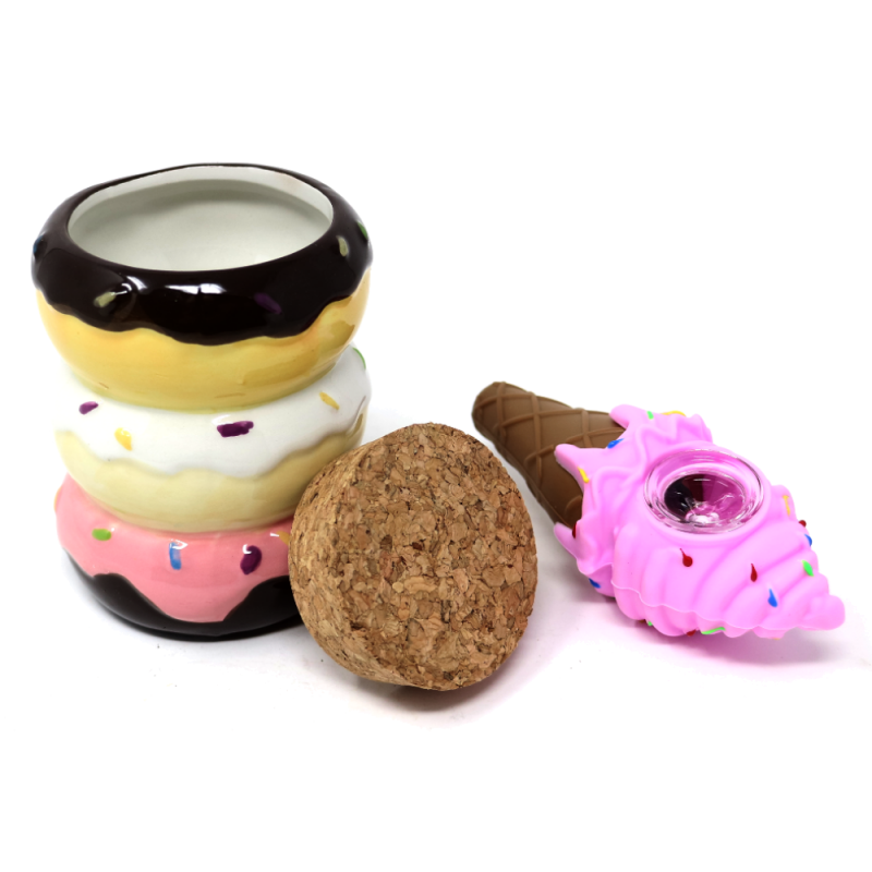 Ceramic Donut Jar